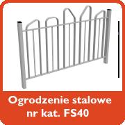 Ogrodzenie stalowe nr kat. FS40