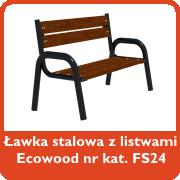 Ławka stalowa z listwami Ecowood nr kat. FS24