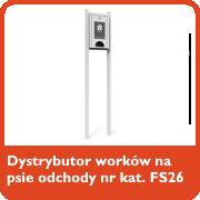Dystrybutor worków na psie odchody nr kat. FS26