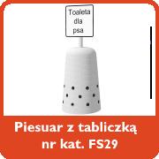 Piesuar z tabliczką nr kat. FS29