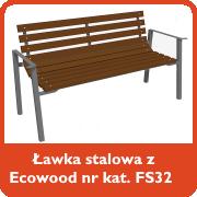 Ławka stalowa z ecowood nr kat. FS32
