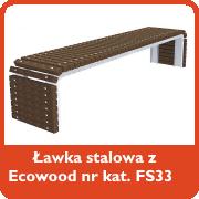 Ławka stalowa z ecowood nr kat. FS33