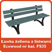 Ławka żeliwna z listwami Ecowood nr kat. FS35