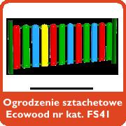 Ogrodzenie sztachetowe Ecowood nr kat. FS41